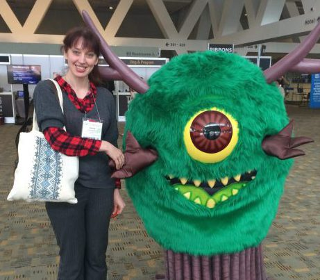 With the friendly monster by http://wordsandmonsters.com