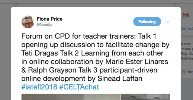Trainer CPD Tweet
